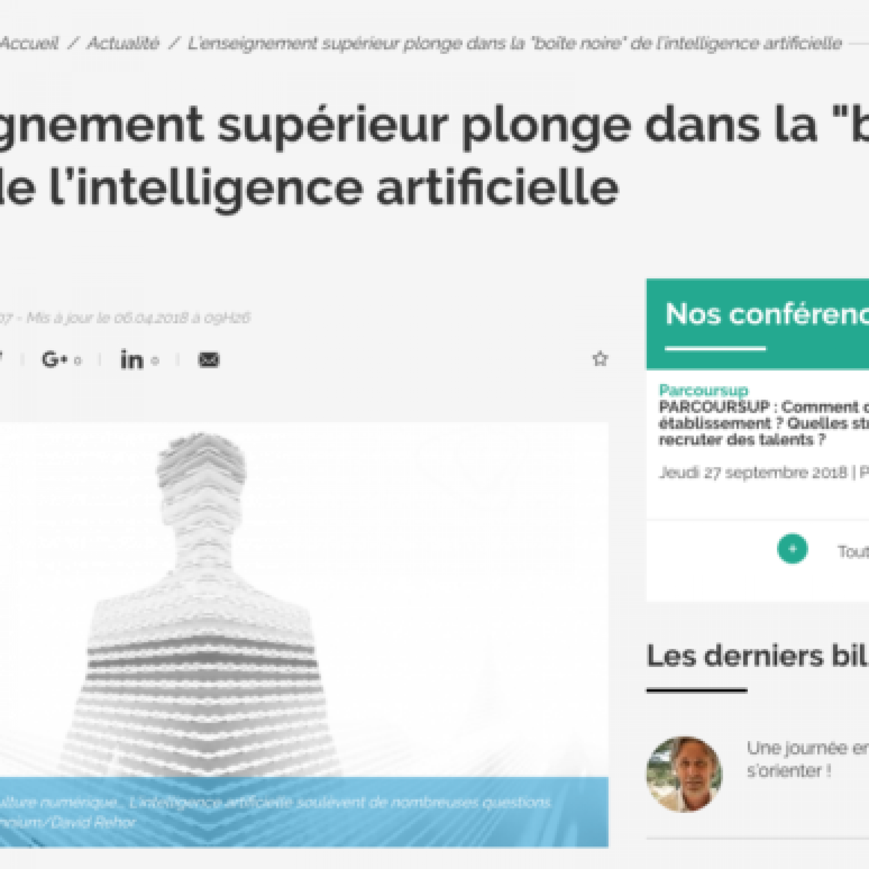 enseignement superieur intelligence artificielle